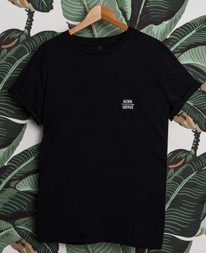 Brennsuppn Surfing - Aloha x Servus - Nachhaltiges Bio Baumwolle Shirt Schwarz / Black