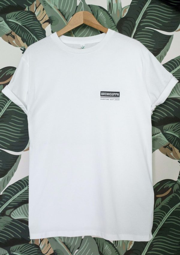 Brennsuppn Surfing - SQUARE - Nachhaltiges Bio Baumwolle Shirt Weiss / Weiß / White